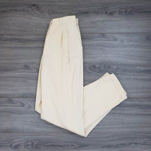 Escada 80's Vintage Straight Leg Trousers Yellow Size 40